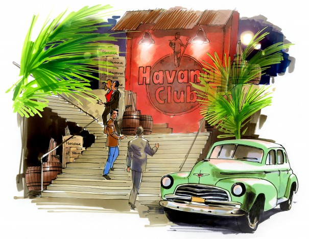 Havana club DECOR ILLUSTRATIE